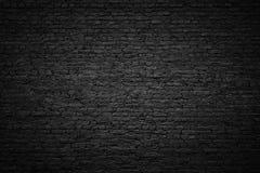 Μαύρος τουβλότοιχος, σκοτεινό υπόβαθρο για το σχέδιο Στοκ εικόνα με δικαίωμα ελεύθερης χρήσης