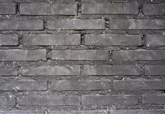 Μαύρος τουβλότοιχος Στοκ φωτογραφία με δικαίωμα ελεύθερης χρήσης