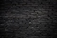Μαύρος τουβλότοιχος Στοκ Φωτογραφίες