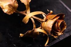 μαύρος χρυσός ανασκόπησης αυξήθηκε Στοκ Εικόνες