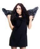 μαύρος όμορφος αγγέλου Στοκ εικόνα με δικαίωμα ελεύθερης χρήσης