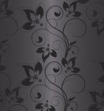 μαύρος floral ανασκόπησης Στοκ Εικόνες