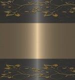 μαύρος floral χρυσός τρύγος Στοκ Εικόνα