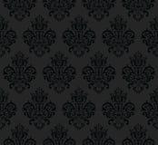 Μαύρο άνευ ραφής διανυσματικό σχέδιο επανάληψης Κομψό σχέδιο στην μπαρόκ σύσταση υποβάθρου ύφους διανυσματική απεικόνιση