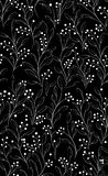 μαύρο άνευ ραφής λευκό προτύπων λουλουδιών Στοκ Φωτογραφίες