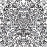 μαύρο άνευ ραφής λευκό προτύπων Στοκ Εικόνες