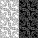 μαύρο άνευ ραφής λευκό πρ&omicron Γεωμετρική τυπωμένη ύλη Στοκ Εικόνα