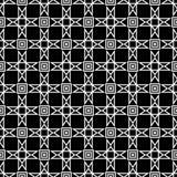 μαύρο άνευ ραφής λευκό πρ&omicron Γεωμετρική τυπωμένη ύλη Στοκ Φωτογραφίες