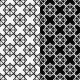 μαύρο άνευ ραφής λευκό πρ&omicron Γεωμετρική τυπωμένη ύλη Στοκ Εικόνες