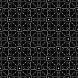 μαύρο άνευ ραφής λευκό πρ&omicron Γεωμετρική τυπωμένη ύλη Στοκ φωτογραφία με δικαίωμα ελεύθερης χρήσης