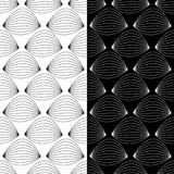 μαύρο άνευ ραφής λευκό πρ&omicron Γεωμετρική τυπωμένη ύλη Στοκ Φωτογραφία