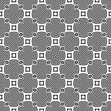 μαύρο άνευ ραφής λευκό πρ&omicron Γεωμετρική τυπωμένη ύλη Στοκ εικόνα με δικαίωμα ελεύθερης χρήσης