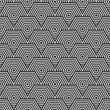 μαύρο άνευ ραφής λευκό πρ&omicron Γεωμετρική τυπωμένη ύλη ελεύθερη απεικόνιση δικαιώματος