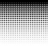 Μαύρο άνευ ραφής σχέδιο καρδιών στο άσπρο υπόβαθρο, χρήση για την ταπετσαρία, σχέδιο, υπόβαθρο ιστοσελίδας, συστάσεις επιφάνειας Στοκ φωτογραφία με δικαίωμα ελεύθερης χρήσης