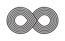 Μαύρο άπειρο κτυπήματος βουρτσών, αιωνιότητα ή διανυσματικό σύμβολο Moebius διανυσματική απεικόνιση