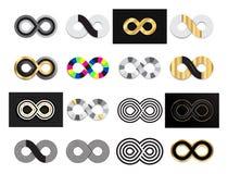 Μαύρο άπειρο κτυπήματος βουρτσών, αιωνιότητα ή διανυσματικό σύμβολο Moebius ελεύθερη απεικόνιση δικαιώματος