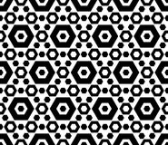 Μαύρο & άσπρο εξαγωνικό γεωμετρικό άνευ ραφής σχέδιο Στοκ φωτογραφία με δικαίωμα ελεύθερης χρήσης