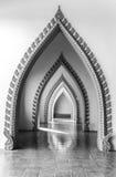 Μαύρο άσπρο στρώμα ναών πορτών Στοκ Εικόνες