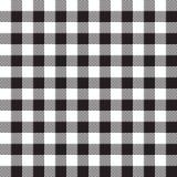Μαύρο άσπρο checkerboard υφαντικό άνευ ραφής σχέδιο ελέγχου Στοκ φωτογραφία με δικαίωμα ελεύθερης χρήσης