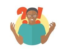 Μαύρο άτομο στα γυαλιά Τύπος στην οργή Επίπεδο εικονίδιο σχεδίου Απλά editable απομονωμένη διανυσματική απεικόνιση απεικόνιση αποθεμάτων