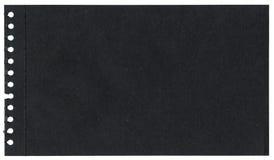 Μαύρο έγγραφο Στοκ φωτογραφίες με δικαίωμα ελεύθερης χρήσης
