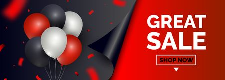 Μαύρο έμβλημα πώλησης Παρασκευής, πρότυπο για την κοινωνική μετα προώθηση στα μέσα μαζικής ενημέρωσης Γεωμετρικά τετραγωνικά υπόβ διανυσματική απεικόνιση