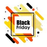 Μαύρο έμβλημα Παρασκευής στοκ εικόνες με δικαίωμα ελεύθερης χρήσης