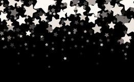 Μαύρο έναστρο έμβλημα Στοκ εικόνα με δικαίωμα ελεύθερης χρήσης