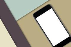 Μαύρο έξυπνο τηλέφωνο με την κενή οθόνη Στοκ Φωτογραφίες