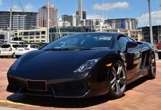 Μαύρο αθλητικό αυτοκίνητο στοκ εικόνες