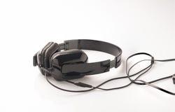 μαύρο ακουστικό Στοκ φωτογραφίες με δικαίωμα ελεύθερης χρήσης