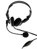 μαύρο ακουστικό Στοκ εικόνα με δικαίωμα ελεύθερης χρήσης