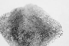 Μαύρο δακτυλικό αποτύπωμα Στοκ Εικόνες