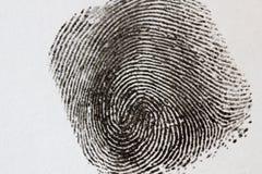 Μαύρο δακτυλικό αποτύπωμα Στοκ Φωτογραφίες