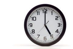 Μαύρο αναλογικό ρολόι Στοκ Εικόνες