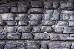 Μαύρο απανθρακωμένο ξύλο Μμένο υπόβαθρο σύστασης δέντρων Μμένο σχέδιο κούτσουρων Στοκ φωτογραφία με δικαίωμα ελεύθερης χρήσης