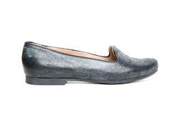 μαύρο απομονωμένο παπούτσ&io Στοκ Εικόνες