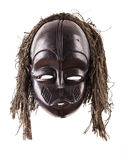 μαύρο απομονωμένο πρόσωπο φυλετικό λευκό μασκών Στοκ φωτογραφία με δικαίωμα ελεύθερης χρήσης