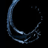 μαύρο απομονωμένο ύδωρ παφλασμών Στοκ εικόνες με δικαίωμα ελεύθερης χρήσης