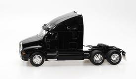 μαύρο απομονωμένο truck Στοκ Φωτογραφία