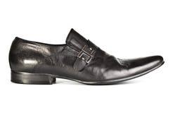 μαύρο αρσενικό παπούτσι Στοκ φωτογραφία με δικαίωμα ελεύθερης χρήσης