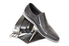 μαύρο αρσενικό παπούτσι Στοκ εικόνες με δικαίωμα ελεύθερης χρήσης