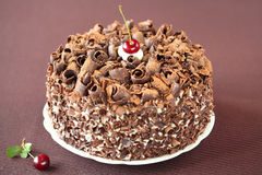 Μαύρο δασικό κέικ στοκ φωτογραφία