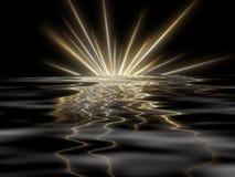 μαύρο αστέρι ανασκόπησης Στοκ εικόνες με δικαίωμα ελεύθερης χρήσης
