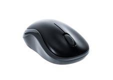 Μαύρο ασύρματο ποντίκι υπολογιστών μπροστινής άποψης OD που απομονώνεται στο άσπρο BA Στοκ φωτογραφίες με δικαίωμα ελεύθερης χρήσης