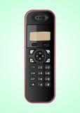 Μαύρο ασύρματο τηλέφωνο Στοκ Εικόνες