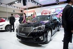 Μαύρο αυτοκίνητο κορωνών της TOYOTA στοκ εικόνες