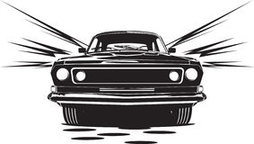 μαύρο αυτοκίνητο Στοκ Εικόνα