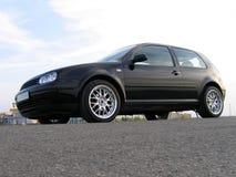 μαύρο αυτοκίνητο Στοκ Εικόνες
