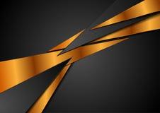 Μαύρο αφηρημένο εταιρικό υπόβαθρο χαλκού διανυσματική απεικόνιση